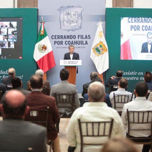 003 CON UNIDAD, COAHUILA CIERRA FILAS ANTE RECORTES PRESUPUESTALES DE LA FEDERACIÓN- MARS